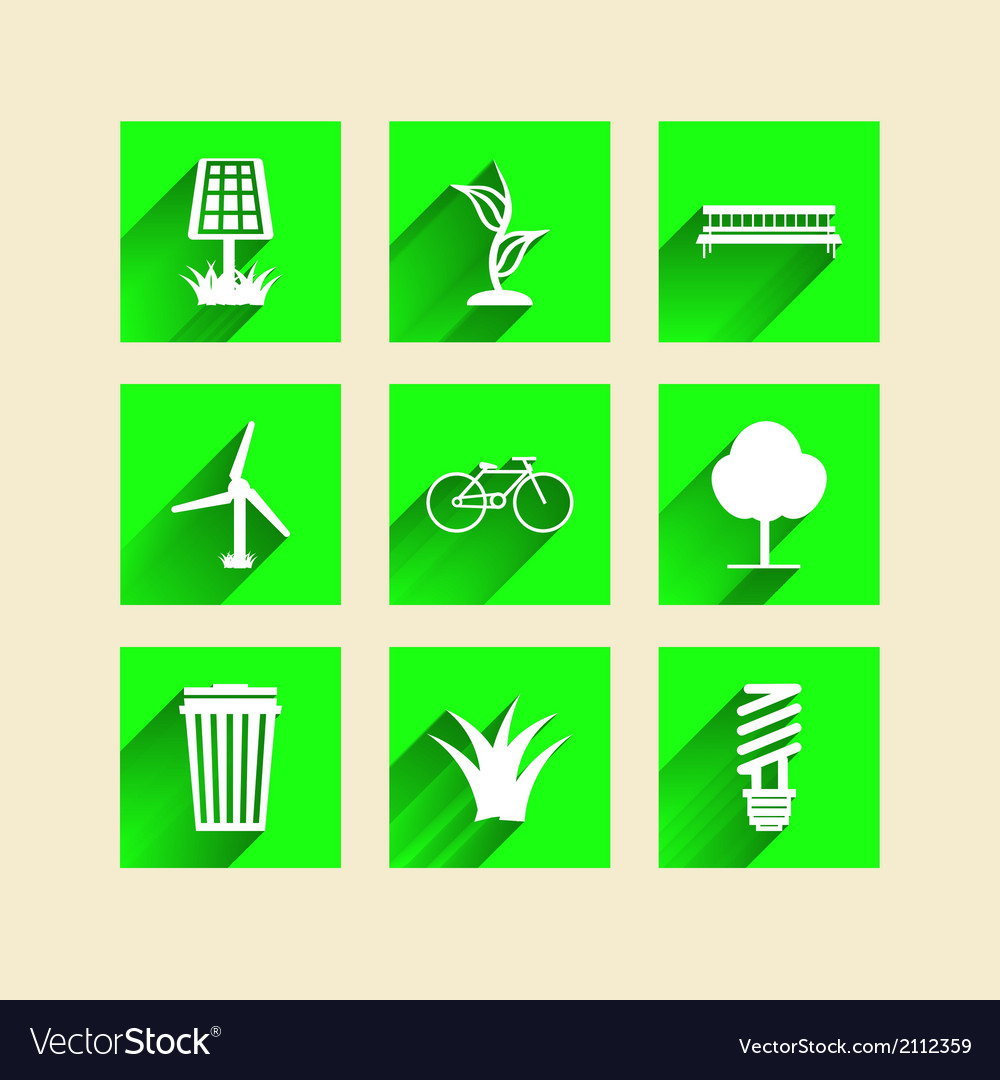 Icons for ecology vector | Price: 1 Credit (USD $1)