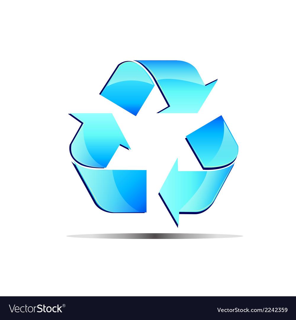 Logo renewable blue vector | Price: 1 Credit (USD $1)