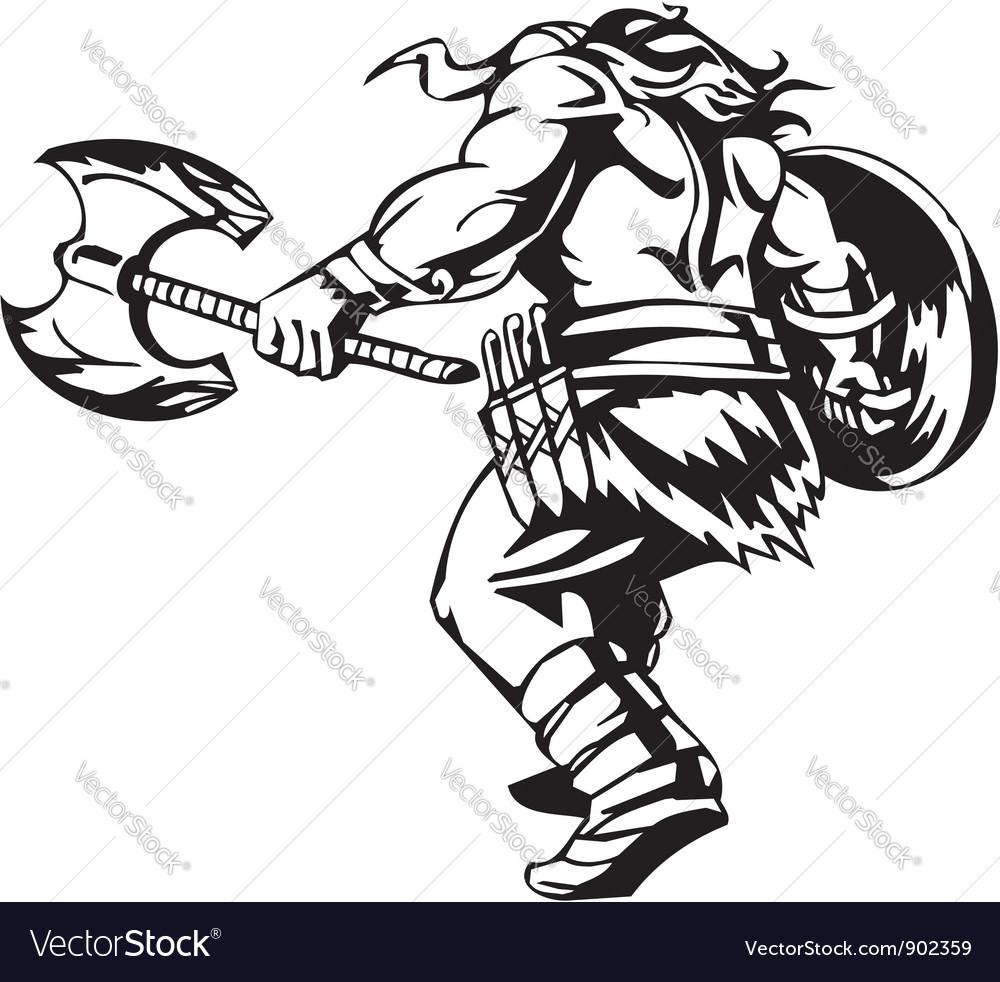Nordic viking -  vinyl-ready vector   Price: 1 Credit (USD $1)