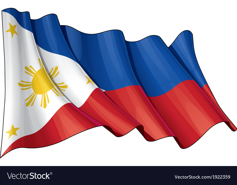 Philippines flag vector | Price: 1 Credit (USD $1)