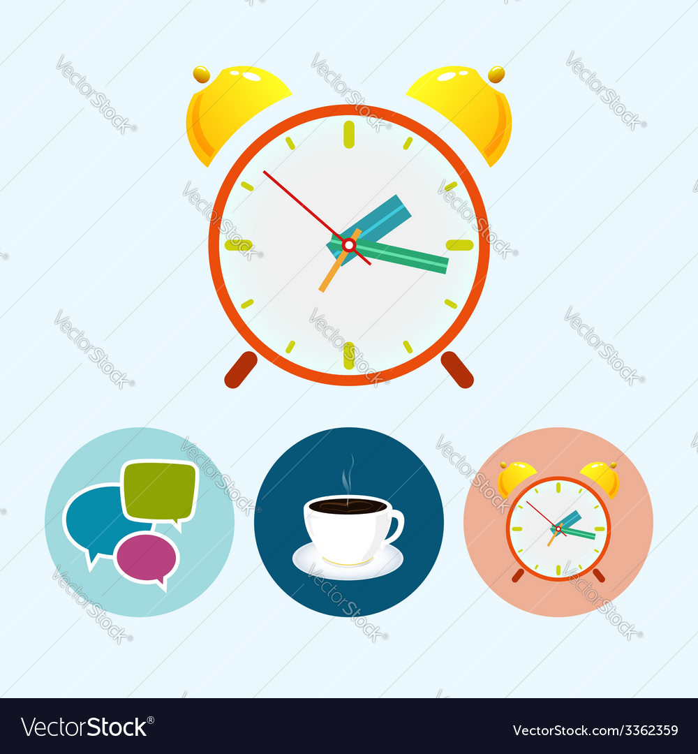 Set icons with speech bubble  cup of tea vector   Price: 1 Credit (USD $1)