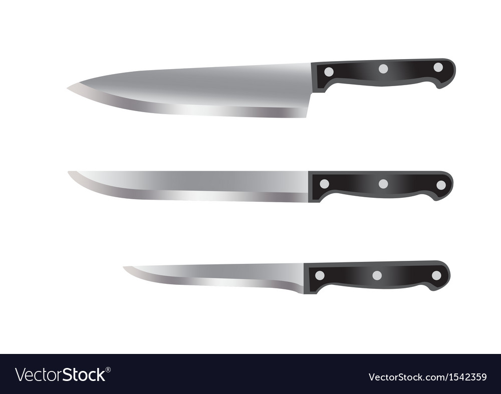 Set of kitchen knifes vector | Price: 1 Credit (USD $1)