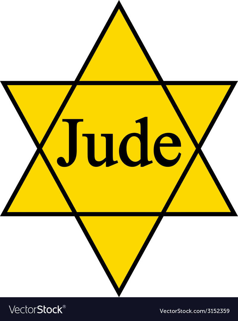 Yellow star jude icon on white background vector | Price: 1 Credit (USD $1)