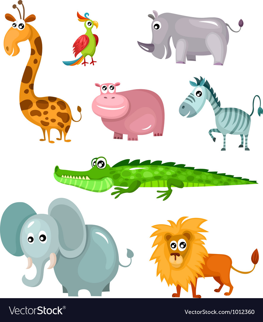 African animal set vector | Price: 3 Credit (USD $3)
