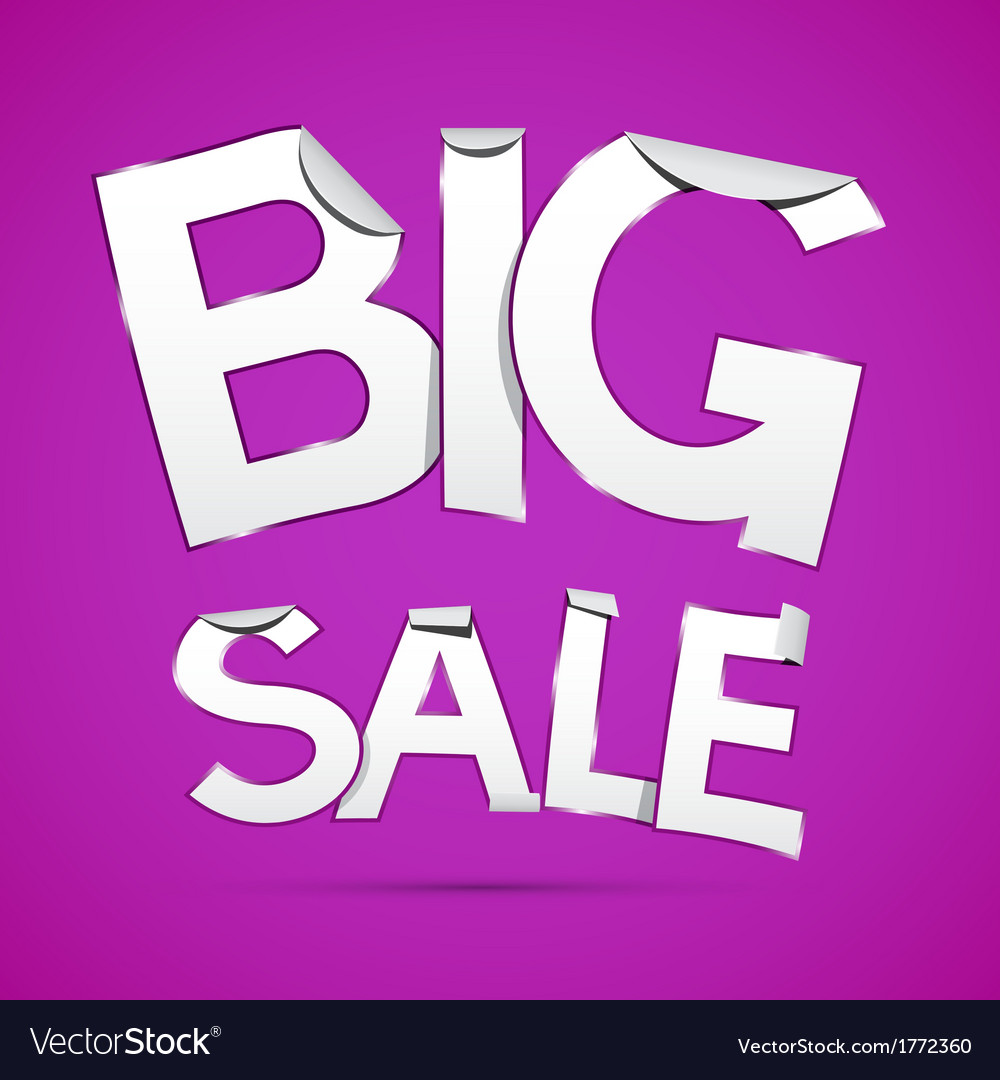 Big sale sticker - label on violet background vector | Price: 1 Credit (USD $1)