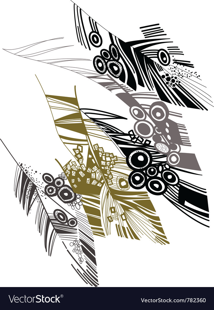 Birds feather graphic color sketch vector | Price: 1 Credit (USD $1)