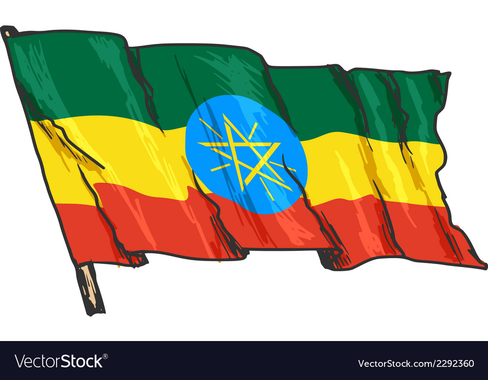 Flag of ethiopia vector | Price: 1 Credit (USD $1)
