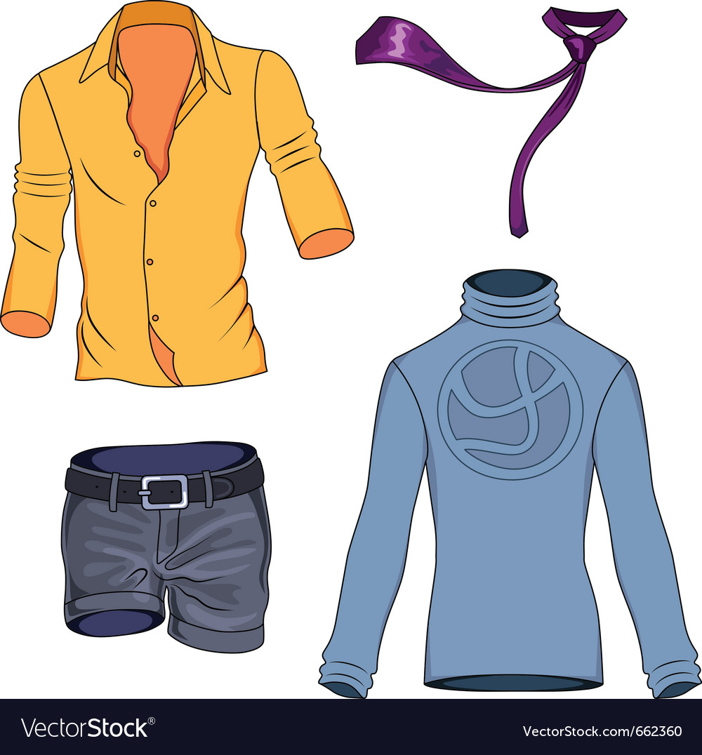 Man clothes vector | Price: 3 Credit (USD $3)