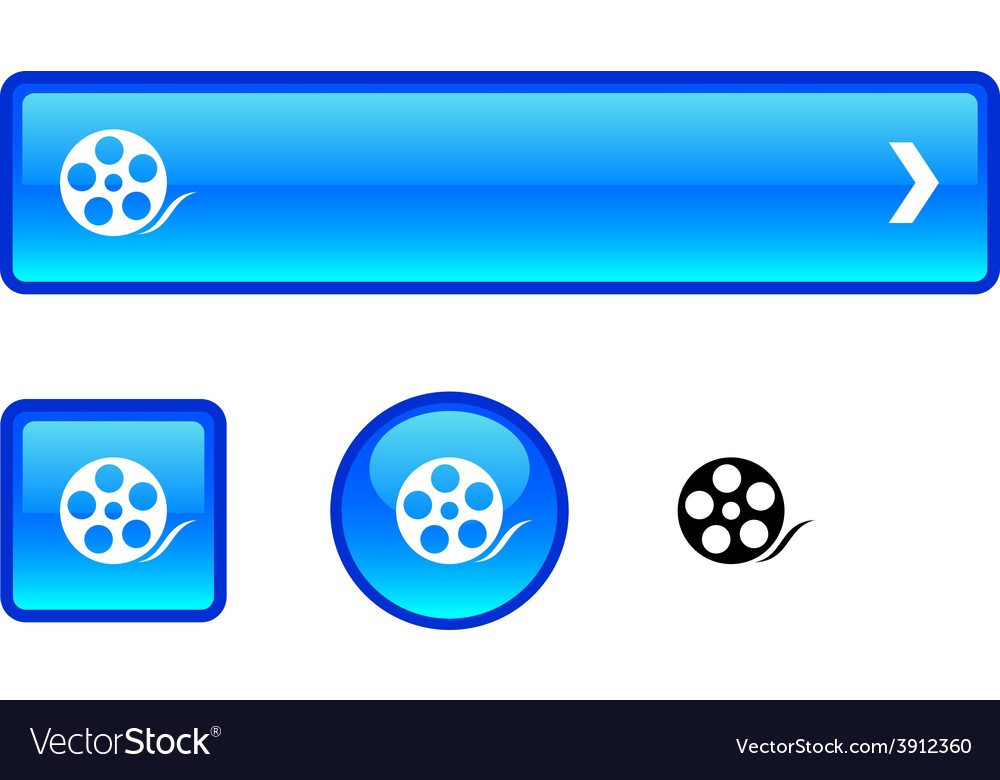 Media button set vector | Price: 1 Credit (USD $1)