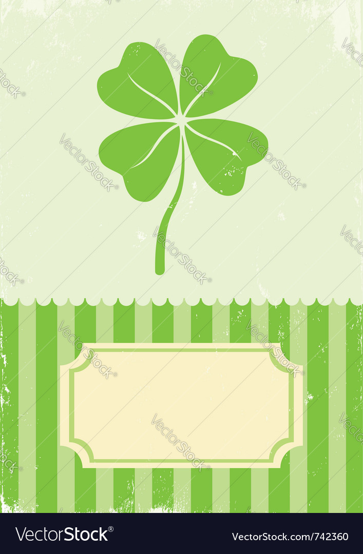 Of clover with four leaves vector | Price: 1 Credit (USD $1)