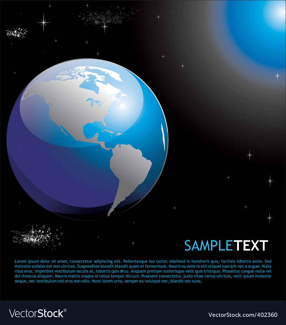 Planet earth background vector   Price: 1 Credit (USD $1)