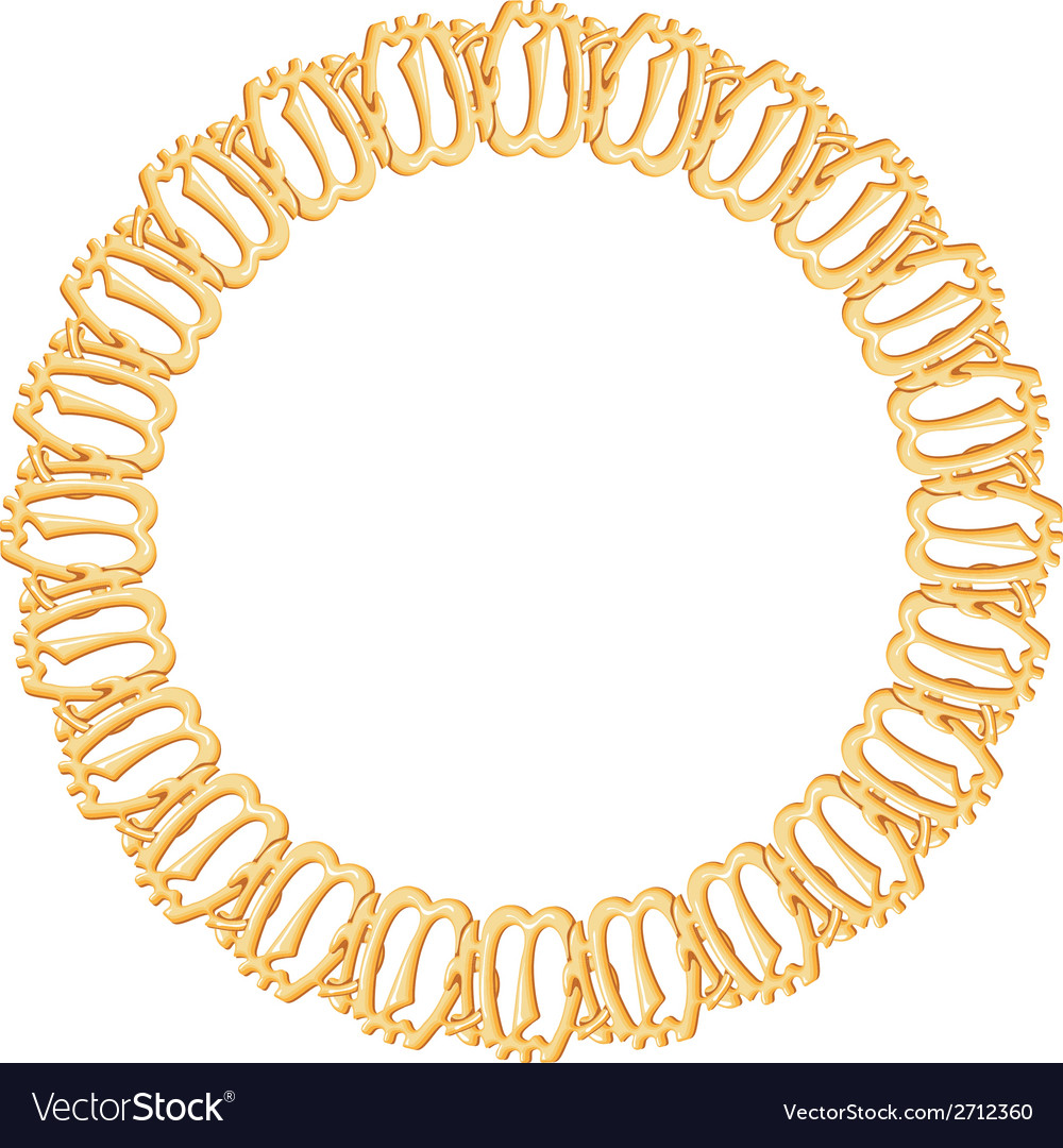 Round frame on a white background - gold chain vector | Price: 1 Credit (USD $1)