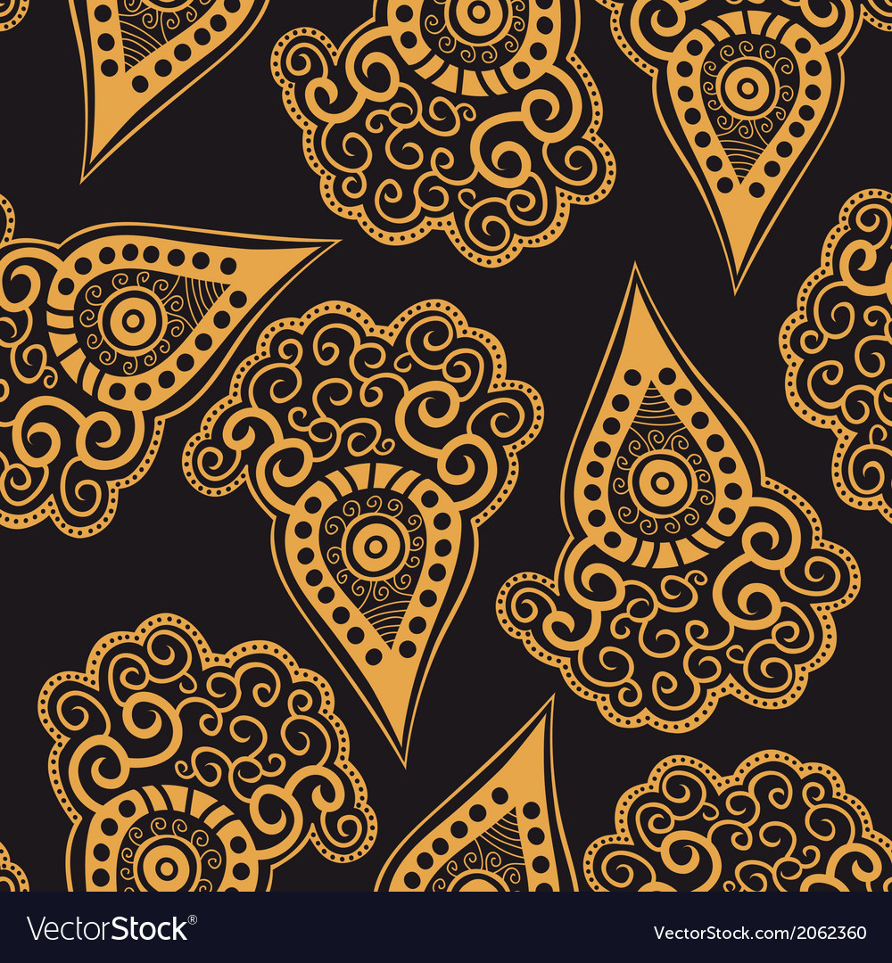 Seamless pattern with stylized carrot vector | Price: 1 Credit (USD $1)