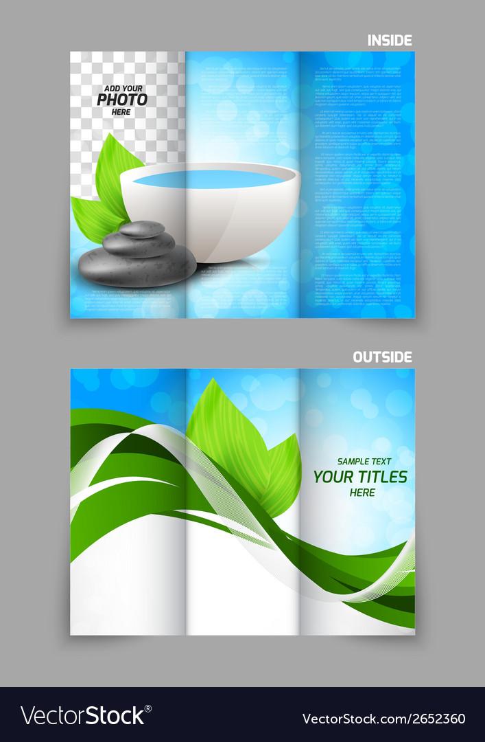 Spa salon beauty tri-fold brochure vector | Price: 1 Credit (USD $1)