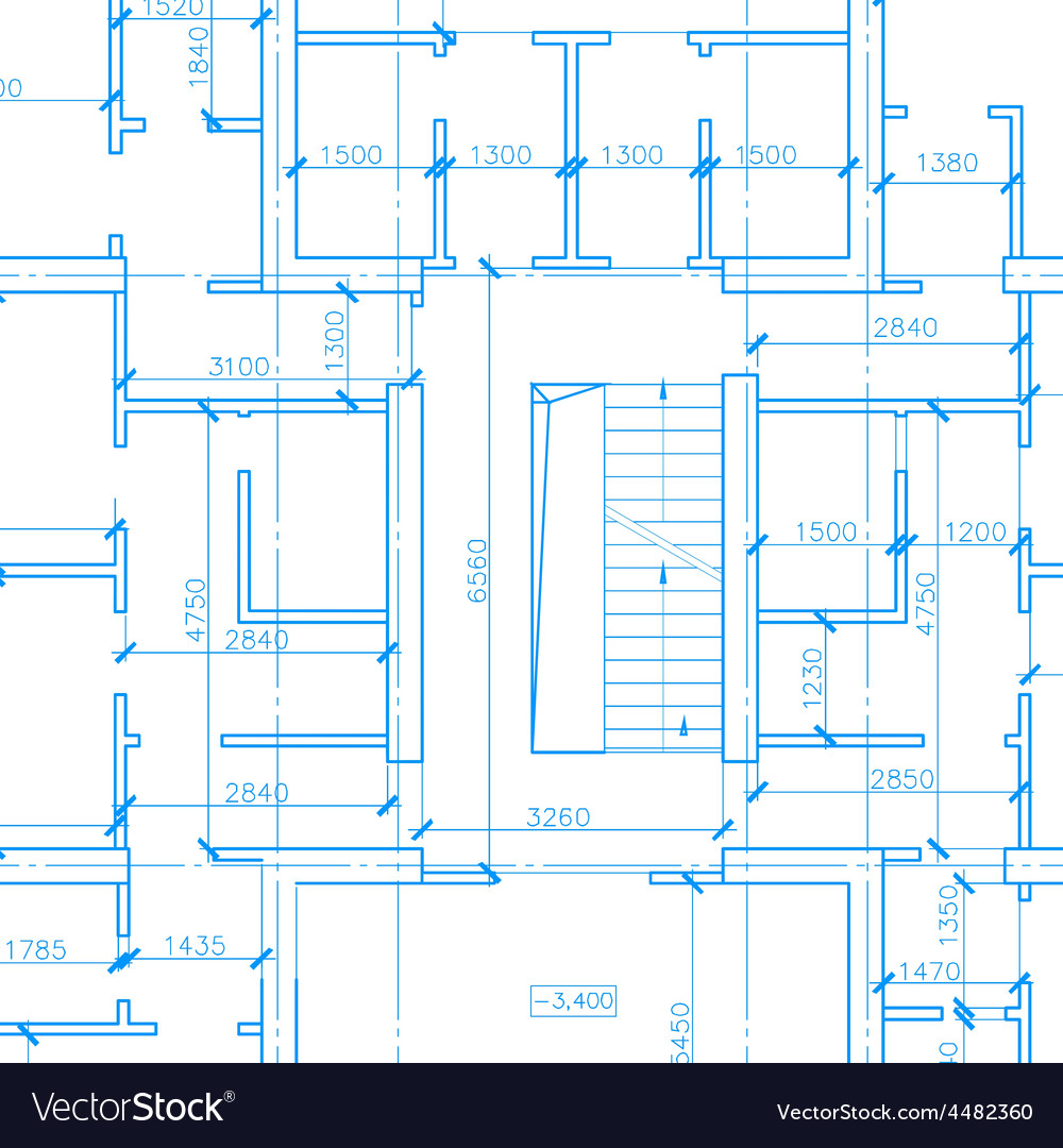 White architecture plan vector | Price: 1 Credit (USD $1)