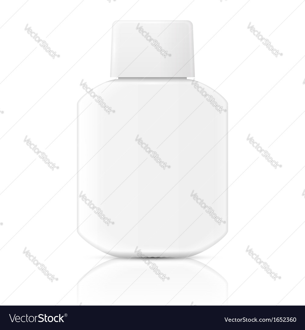 White lotion bottle template vector | Price: 1 Credit (USD $1)