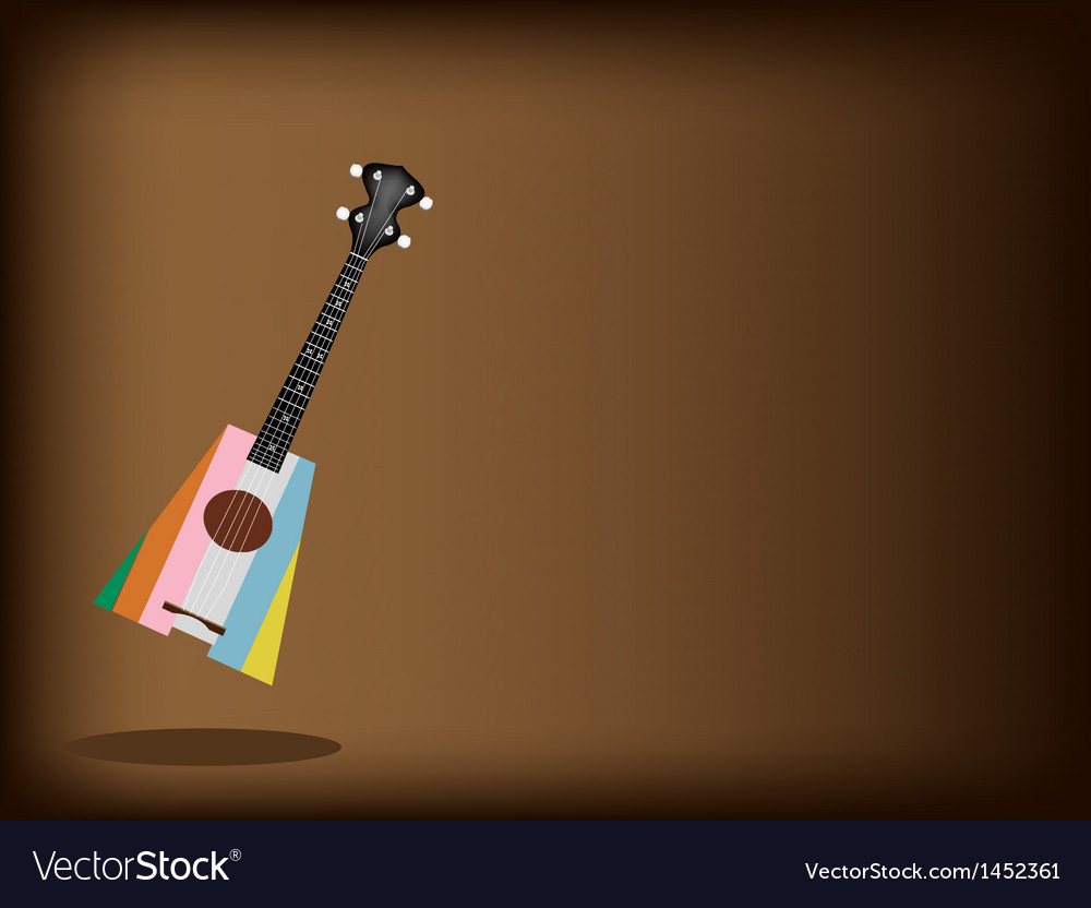 A beautiful ukulele guitar on brown background vector | Price: 1 Credit (USD $1)