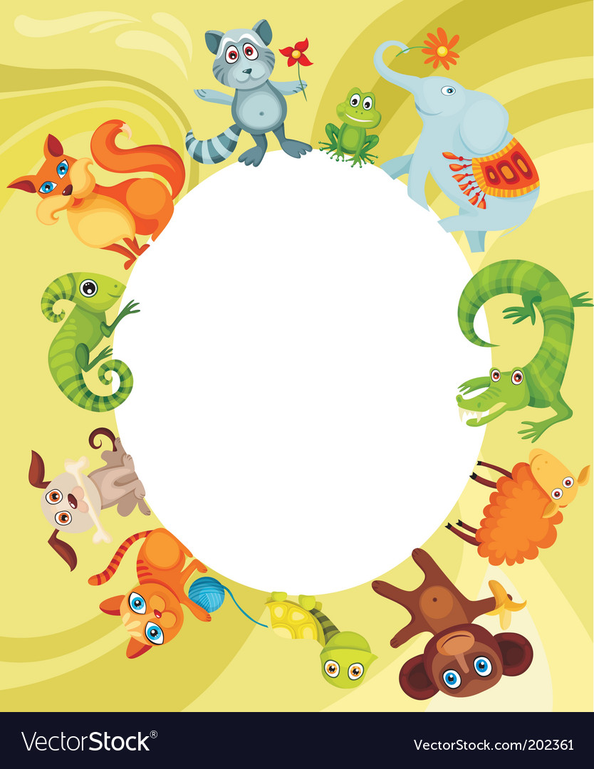 Animal card vector | Price: 3 Credit (USD $3)