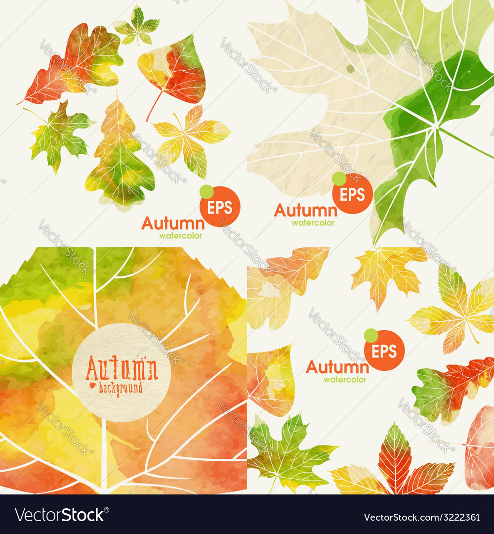 Autumnal background set vector | Price: 1 Credit (USD $1)