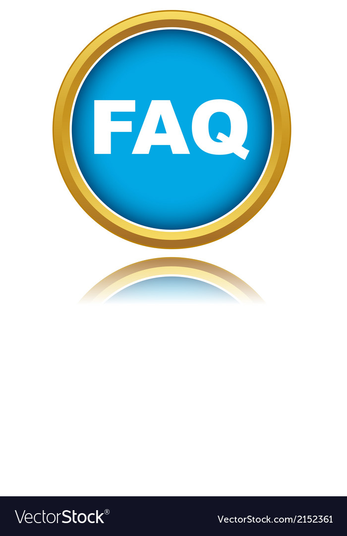Blue faq icon vector | Price: 1 Credit (USD $1)