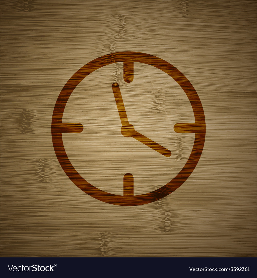 Clock time icon symbol flat modern web design with vector | Price: 1 Credit (USD $1)