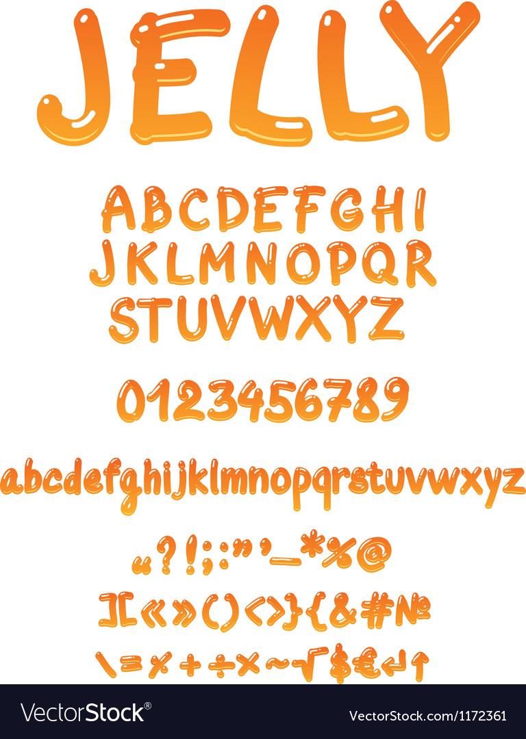 Handwritten jelly font vector | Price: 1 Credit (USD $1)