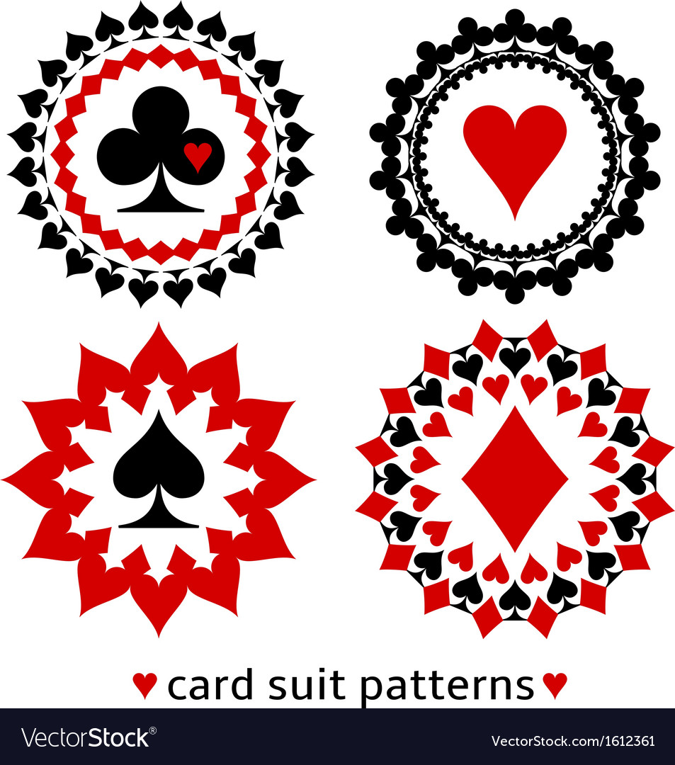 Nice card suit round patterns vector | Price: 1 Credit (USD $1)