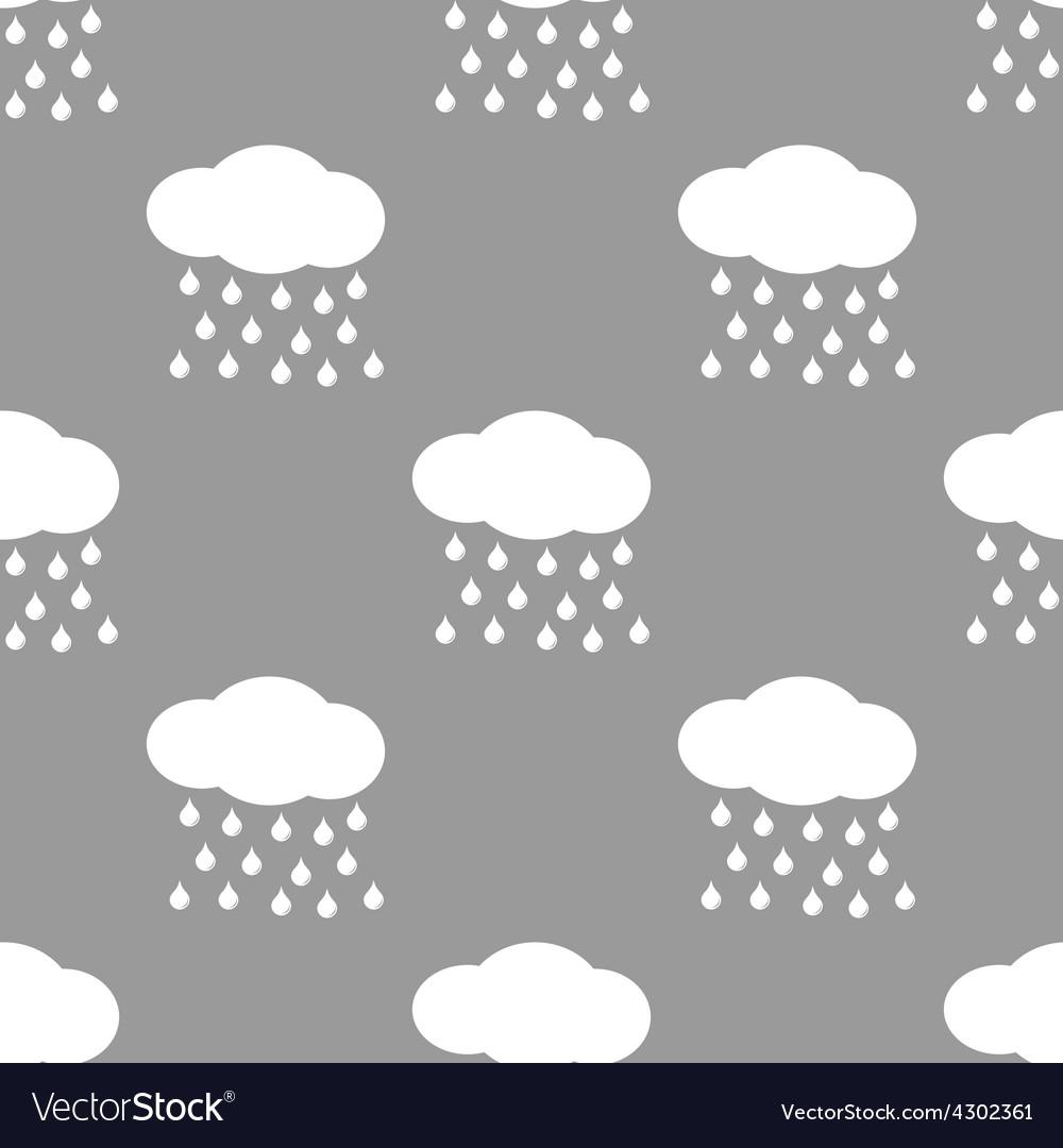 Rain seamless pattern vector | Price: 1 Credit (USD $1)