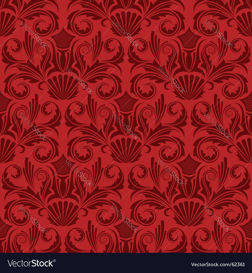 Red seamless wallpaper vector | Price: 1 Credit (USD $1)