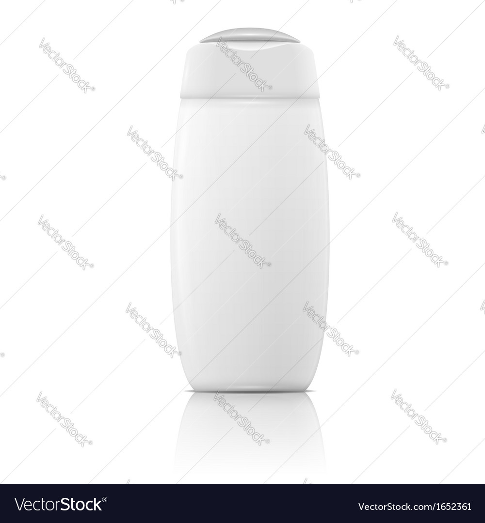 White shampoo bottle template vector | Price: 1 Credit (USD $1)