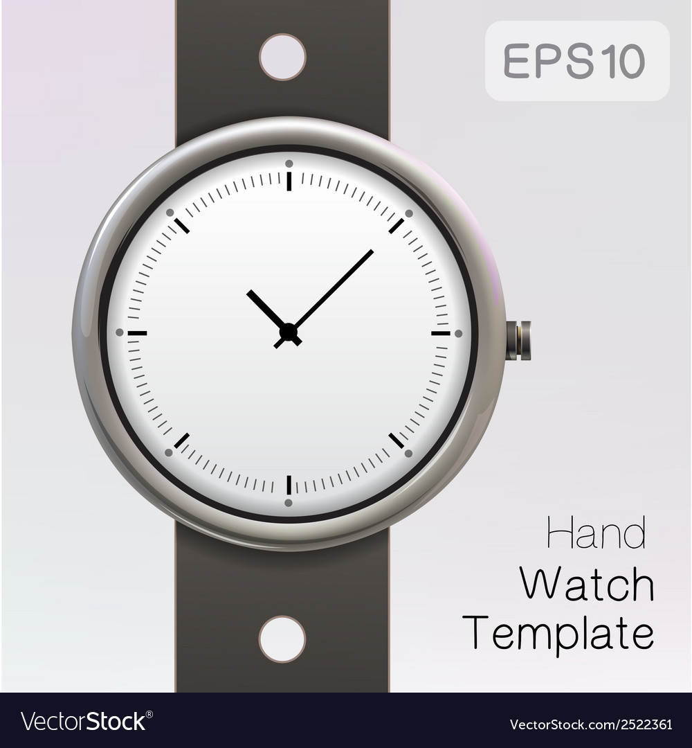 Wrist watch template vector | Price: 1 Credit (USD $1)