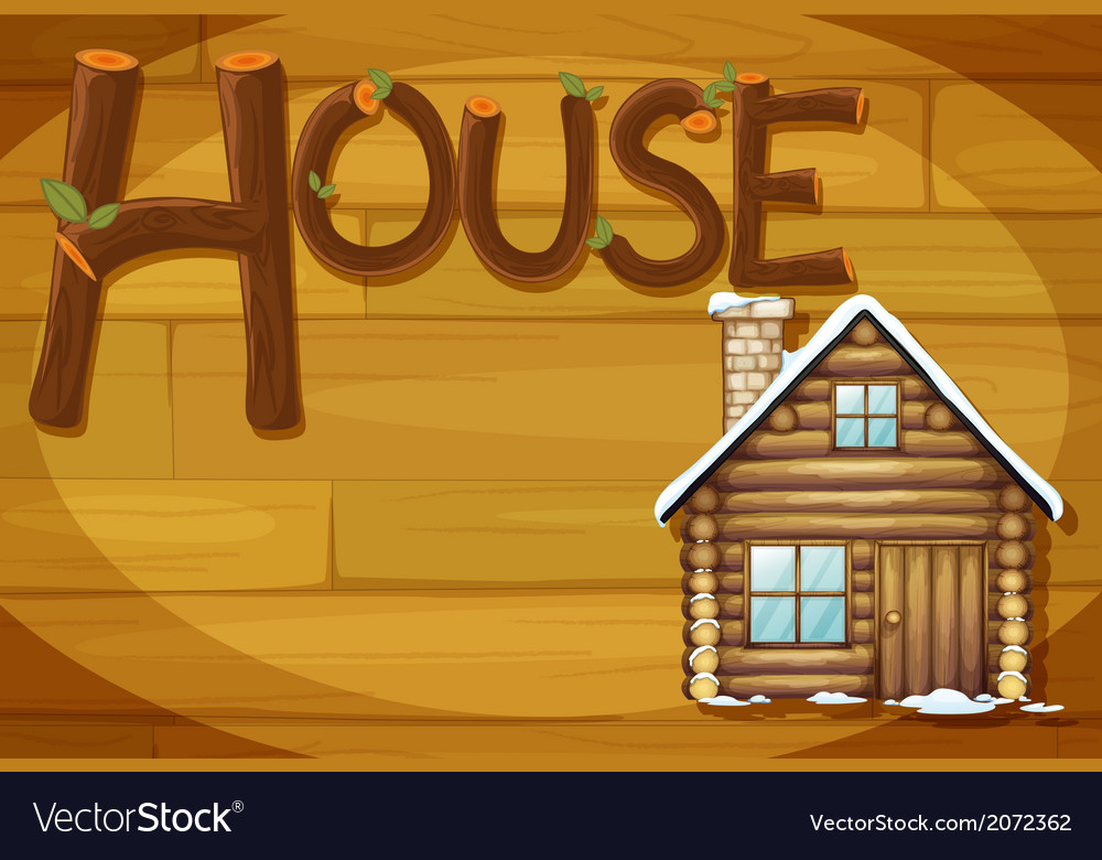 A wooden frame with a house vector | Price: 1 Credit (USD $1)