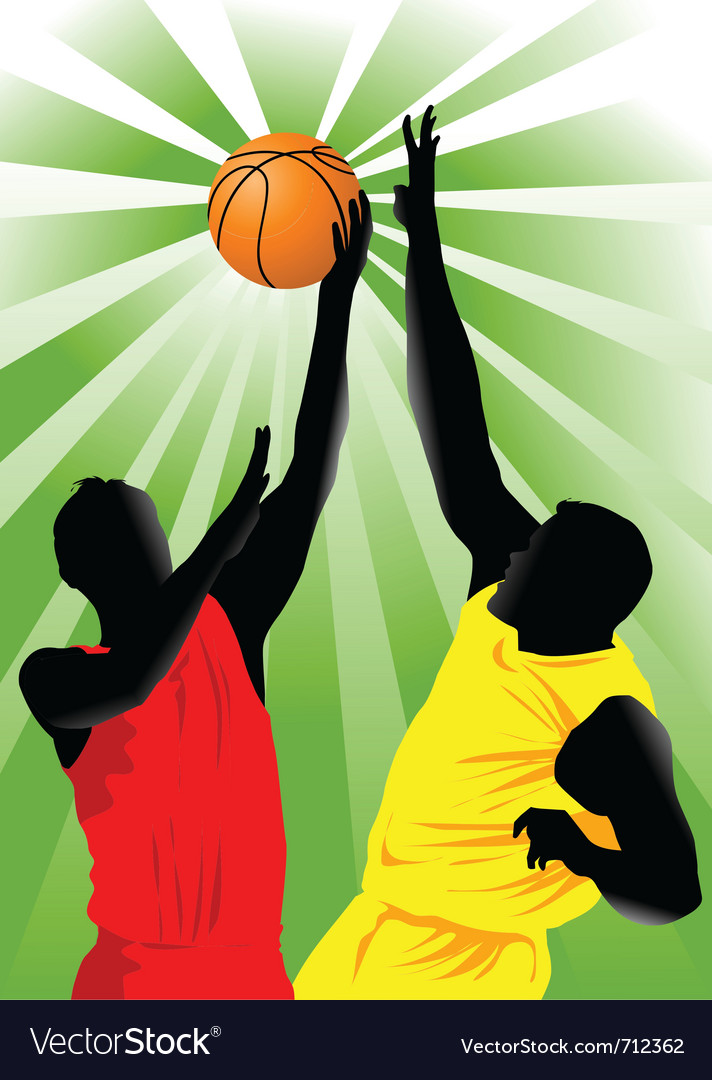 Basketball players vector   Price: 1 Credit (USD $1)