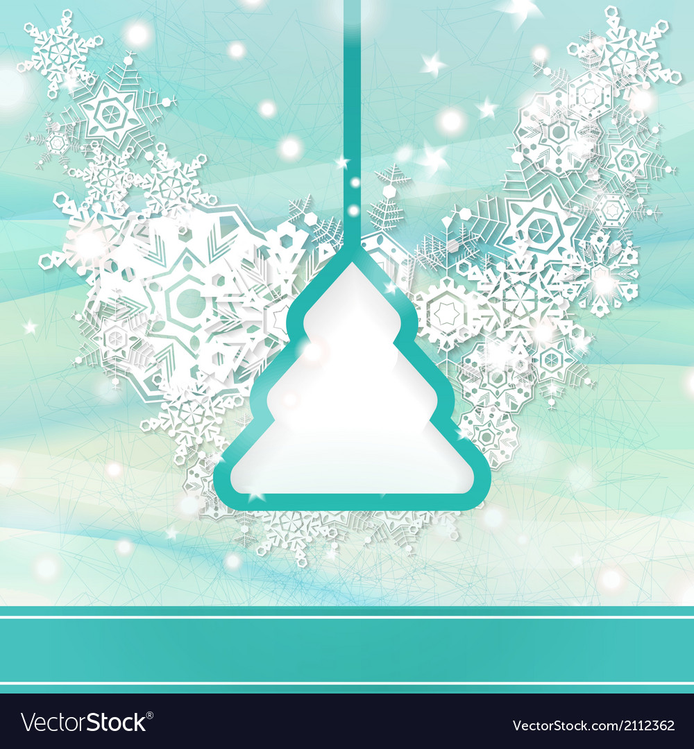 Elegant light blue christmas background vector | Price: 1 Credit (USD $1)