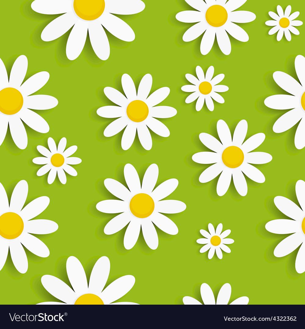 Flora daisy seamless pattern design vector | Price: 1 Credit (USD $1)
