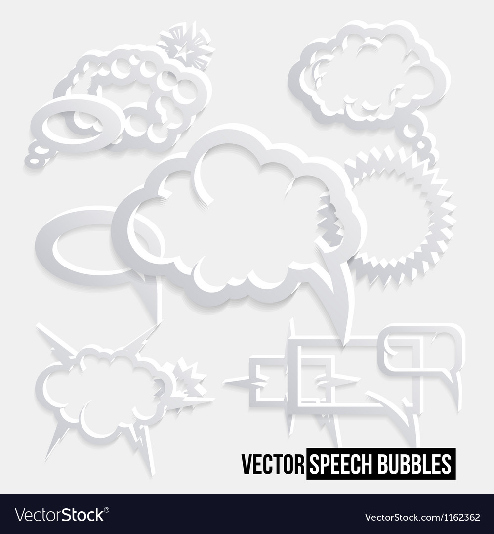Grunge speech bubbles vector | Price: 1 Credit (USD $1)
