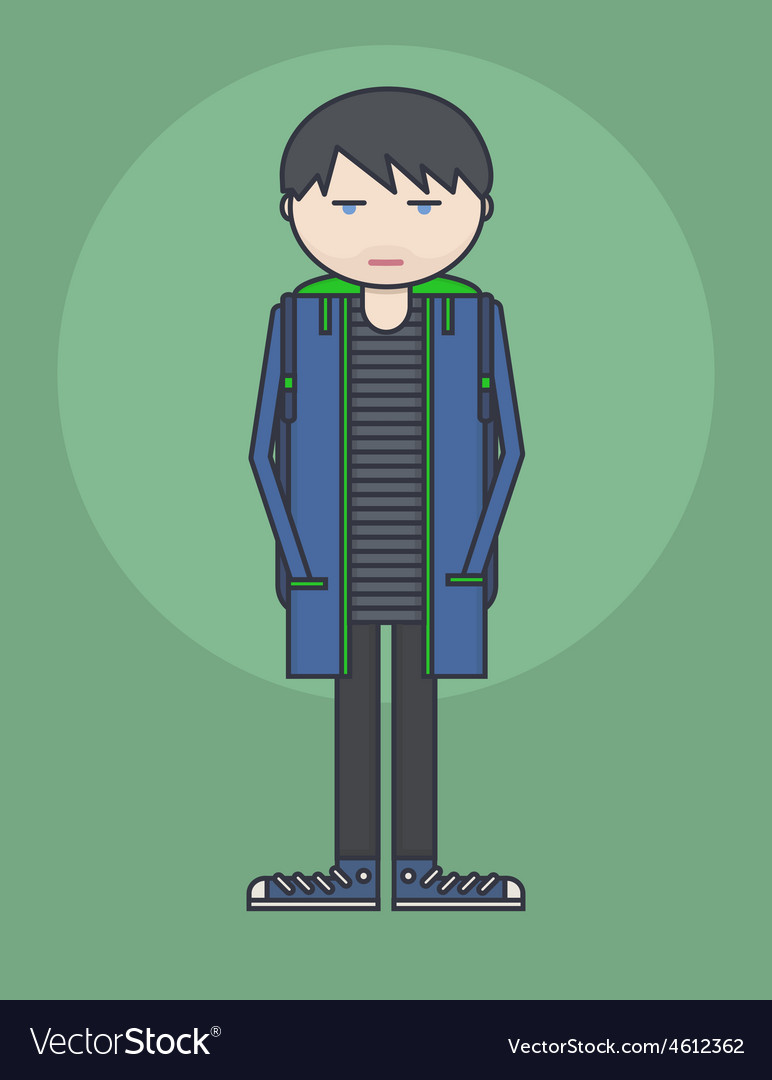 Line style showing young person vector | Price: 1 Credit (USD $1)