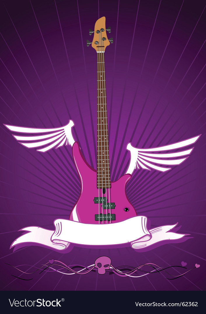 Modern bass guitar vector | Price: 1 Credit (USD $1)