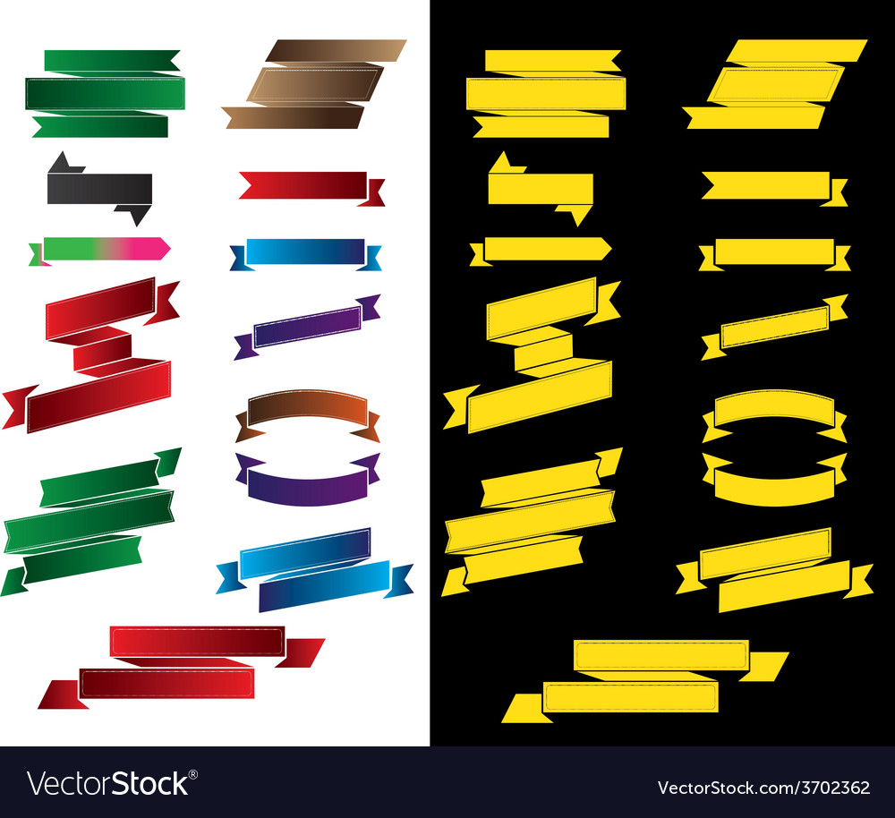 Ribbons collection set 3 vector | Price: 1 Credit (USD $1)