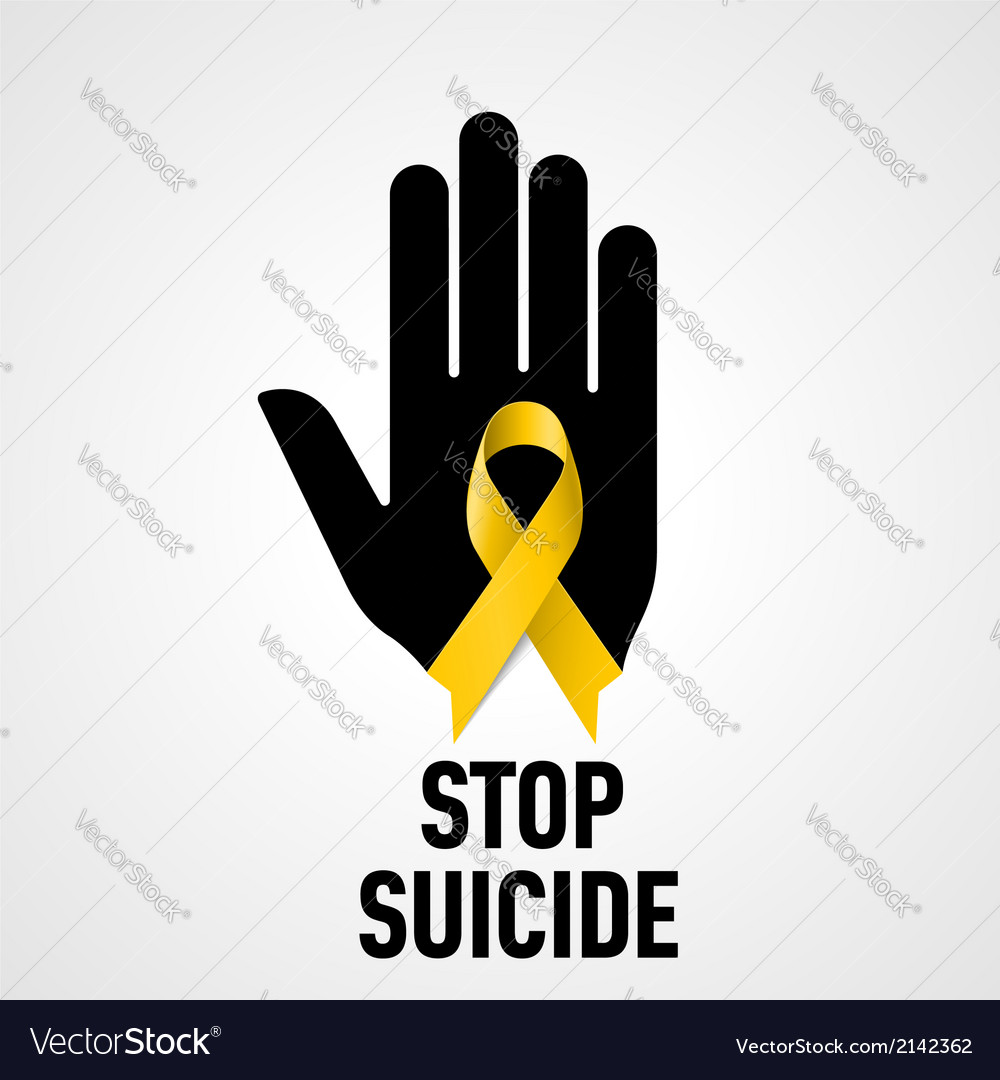 Stop suicide sign vector | Price: 1 Credit (USD $1)