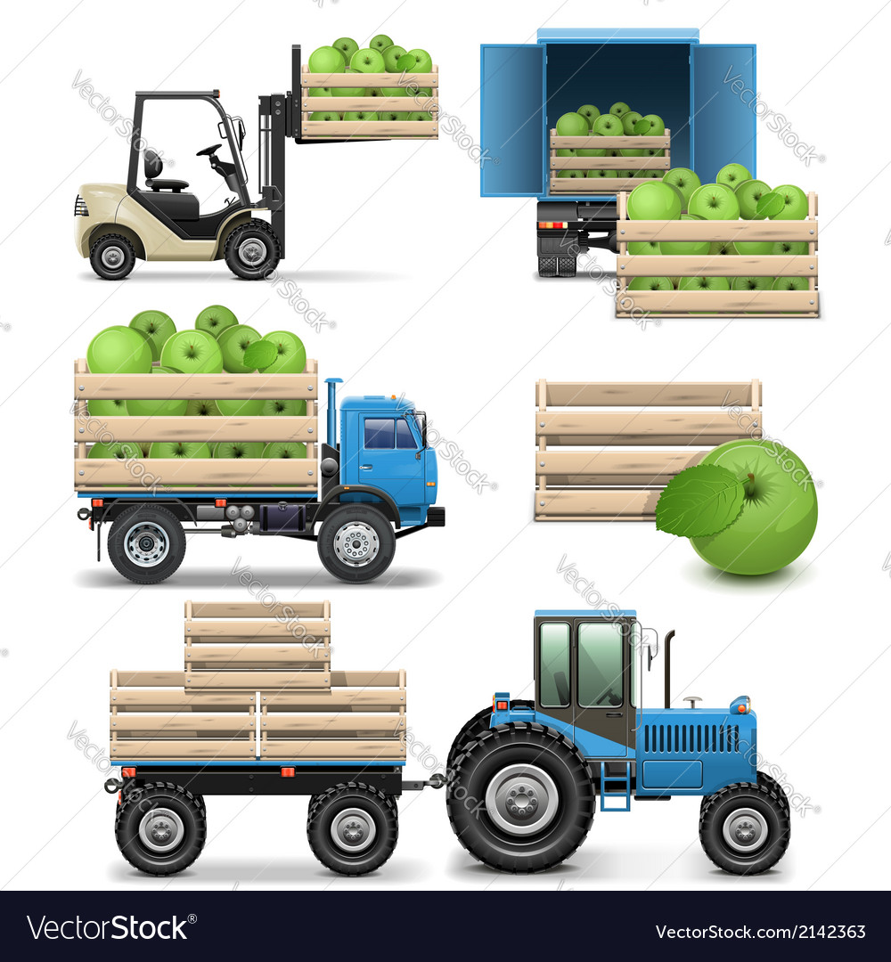 Agricultural icons vector | Price: 3 Credit (USD $3)
