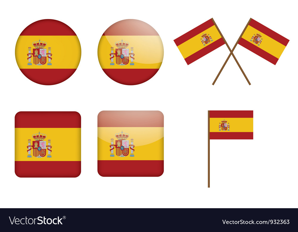 Badges with flag of spain vector   Price: 1 Credit (USD $1)