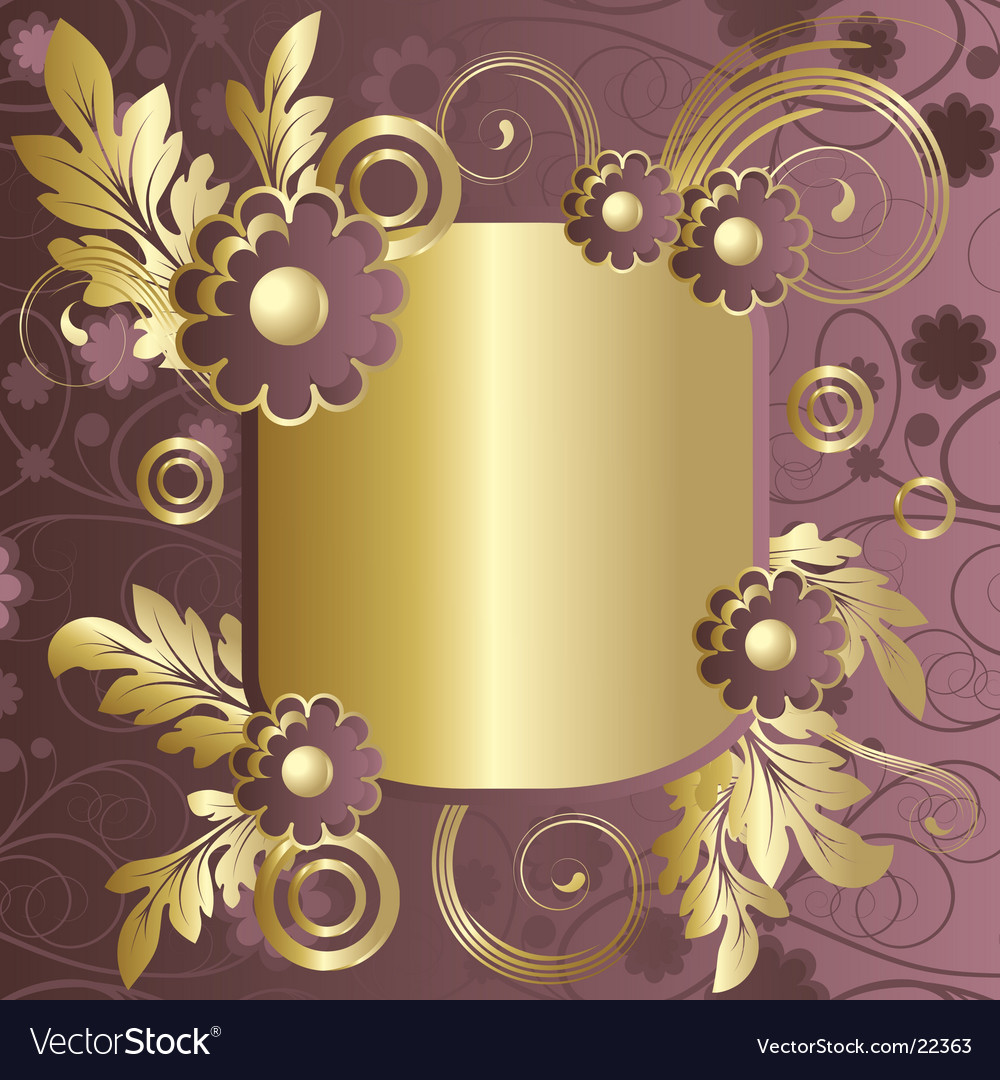 Claret frame with flowers vector | Price: 1 Credit (USD $1)