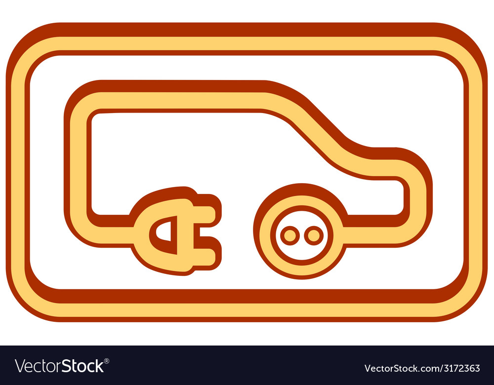 Electrical vehicle icon vector | Price: 1 Credit (USD $1)