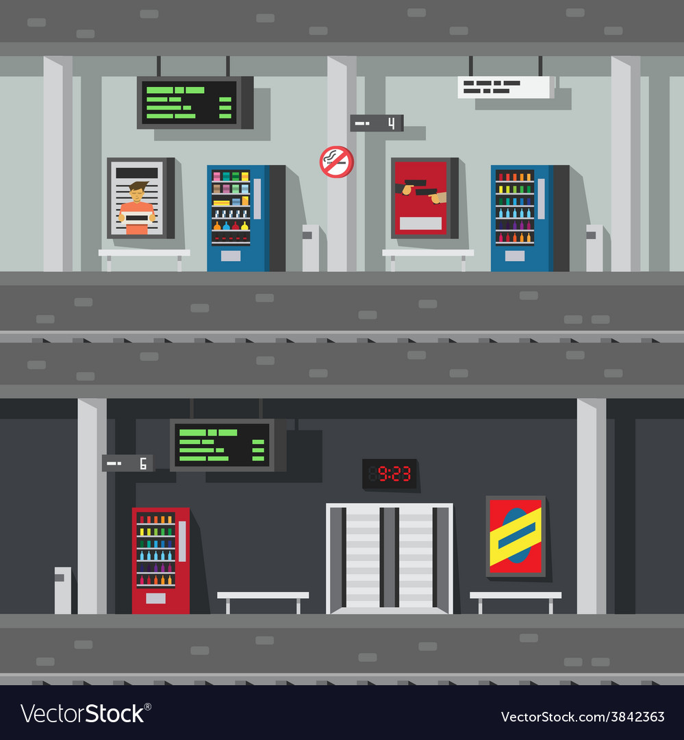 Flat design of underground subway vector | Price: 1 Credit (USD $1)