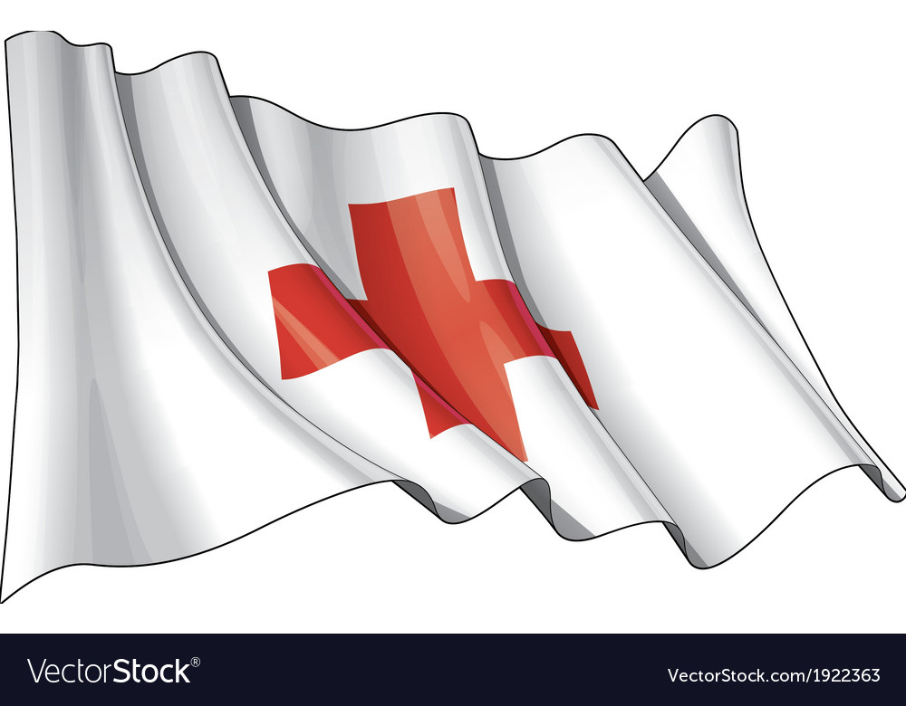 Grunge flag of red cross vector | Price: 1 Credit (USD $1)