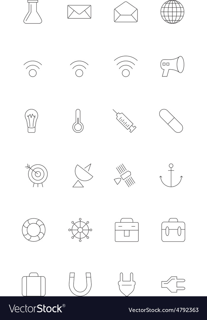 Line icons 10 vector | Price: 1 Credit (USD $1)