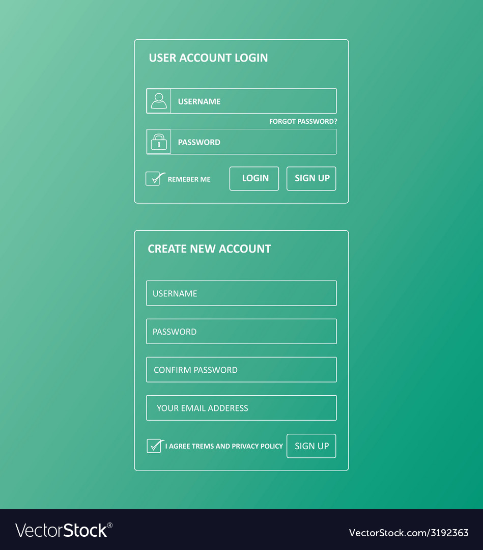 Login and sign up 3 vector | Price: 1 Credit (USD $1)