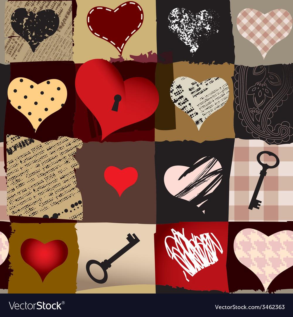 Love retro pattern vector | Price: 1 Credit (USD $1)