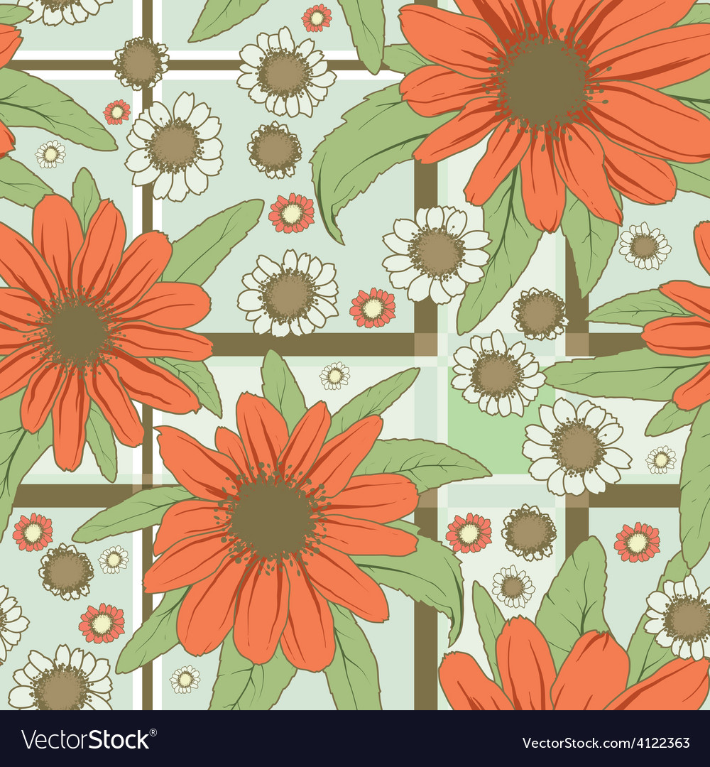 Red flowers pattern vector | Price: 1 Credit (USD $1)
